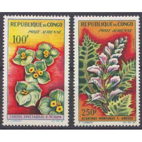 Francobollo collezione Congo N° Yvert e Tellier PA 8/9 nove senza cerniera