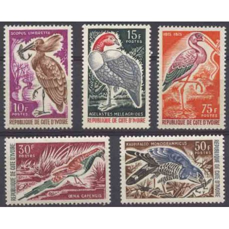 Timbre collection Côte d'Ivoire N° Yvert et Tellier 238/242 Neuf sans charnière
