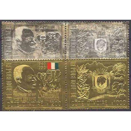 Briefmarke Sammlung die Elfenbeinküste N° Yvert und Tellier 309/310 + PA 47/48 neun ohne Scharnier