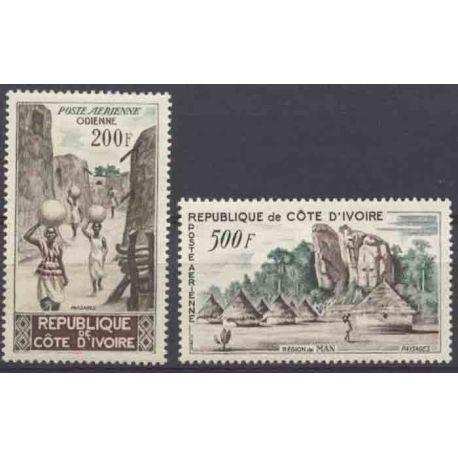 Timbre collection Côte d'Ivoire N° Yvert et Tellier PA 23/24 Neuf sans charnière