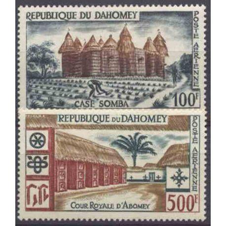 Francobollo collezione Dahomey N° Yvert e Tellier PA 18/19 nove senza cerniera