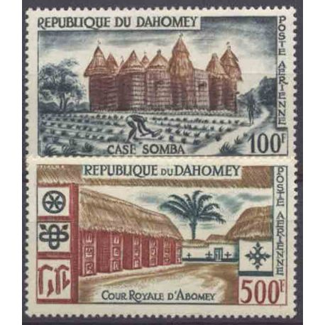 Timbre collection Dahomey N° Yvert et Tellier PA 18/19 Neuf sans charnière