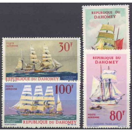 Briefmarke Sammlung Dahomey N° Yvert und Tellier PA 55/58 neun ohne Scharnier