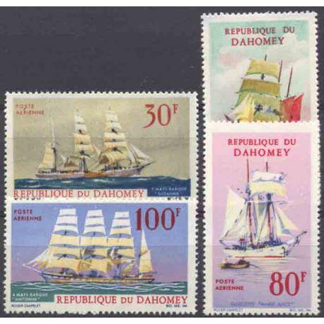 Francobollo collezione Dahomey N° Yvert e Tellier PA 55/58 nove senza cerniera