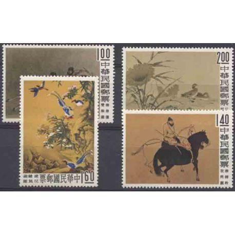 Briefmarke Sammlung Formosa N° Yvert und Tellier 327/330 neun ohne Scharnier