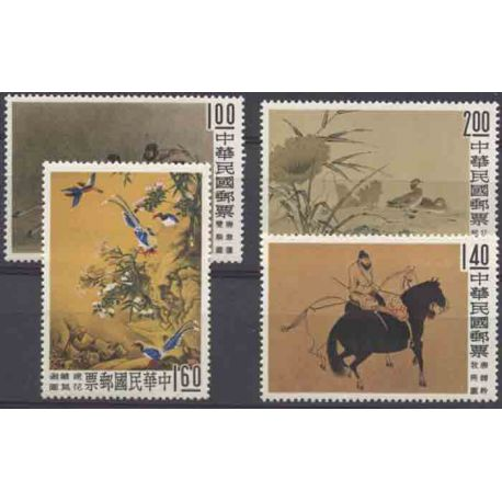 Francobollo collezione Formose N° Yvert e Tellier 327/330 nove senza cerniera