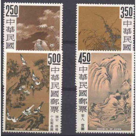 Briefmarke Sammlung Formosa N° Yvert und Tellier 541/544 neun ohne Scharnier