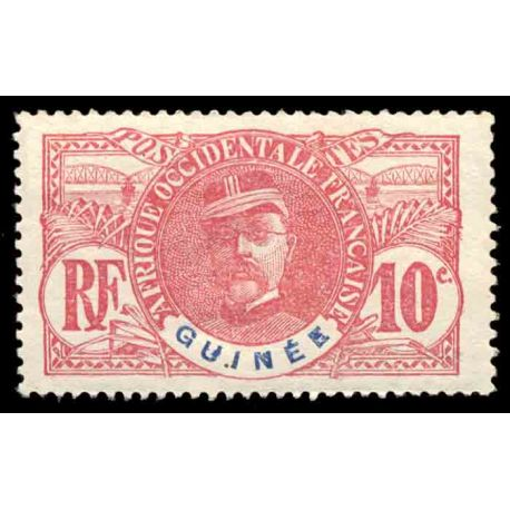 Timbre collection Guinée N° Yvert et Tellier 37 Neuf avec charnière