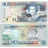 Banknote Caribbean Eastern States Pick number 48 - 10 Dollar 2008