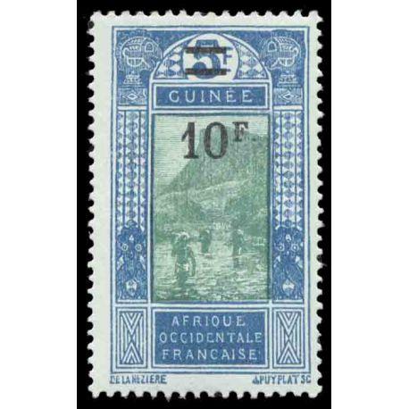 Timbre collection Guinée N° Yvert et Tellier 105 Neuf avec charnière