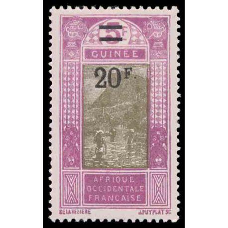 Timbre collection Guinée N° Yvert et Tellier 106 Neuf avec charnière