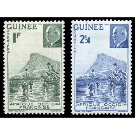 Francobollo collezione Guinea N° Yvert e Tellier 176/177 nove senza cerniera