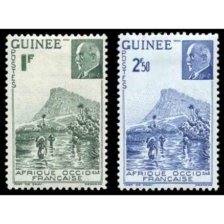 Timbre collection Guinée N° Yvert et Tellier 176/177 Neuf sans charnière