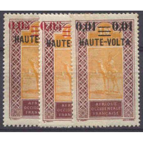 Timbre collection Haute-Volta N° Yvert et Tellier 18/20 Neuf avec charnière