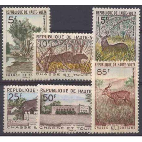Sello colección Alto Volta N° Yvert y Tellier 97/102 Nueve sin bisagra