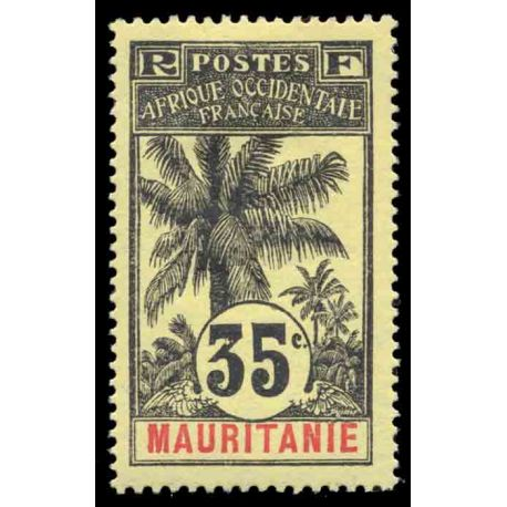 Timbre collection Mauritanie N° Yvert et Tellier 9 Neuf avec charnière