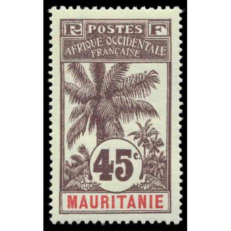 Francobollo collezione Mauritania N° Yvert e Tellier 11 nove con cerniera