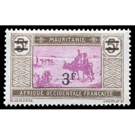 Timbre collection Mauritanie N° Yvert et Tellier 54 Neuf avec charnière