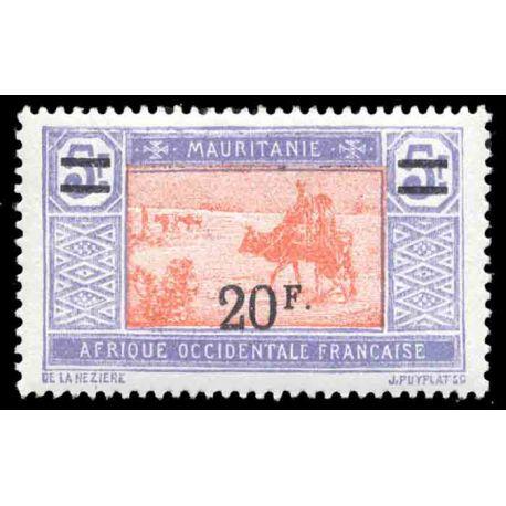 Francobollo collezione Mauritania N° Yvert e Tellier 56 nove con cerniera