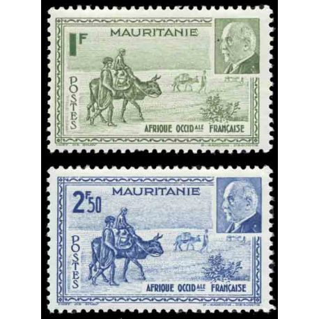 Timbre collection Mauritanie N° Yvert et Tellier 123/124 Neuf sans charnière
