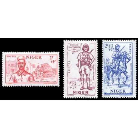 Francobollo collezione Niger N° Yvert e Tellier 86/88 nove senza cerniera
