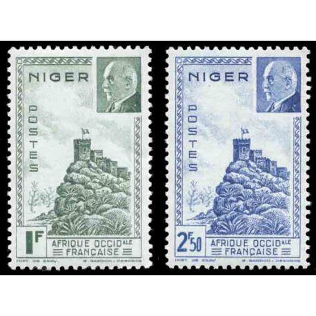 Francobollo collezione Niger N° Yvert e Tellier 93/94 nove senza cerniera