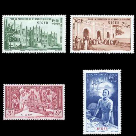 Timbre collection Niger N° Yvert et Tellier PA 6/9 Neuf sans charnière