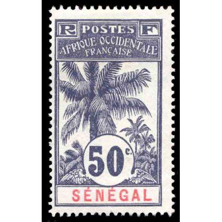 Timbre collection Sénégal N° Yvert et Tellier 42 Neuf avec charnière