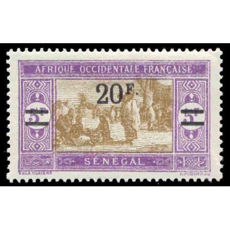 Timbre collection Sénégal N° Yvert et Tellier 101 Neuf avec charnière