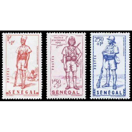 Francobollo collezione Senegal N° Yvert e Tellier 170/172 nove senza cerniera