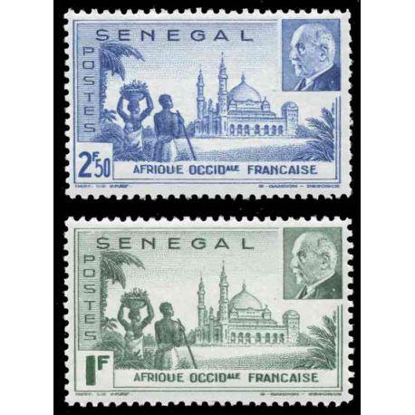 Francobollo collezione Senegal N° Yvert e Tellier 177/178 nove senza cerniera