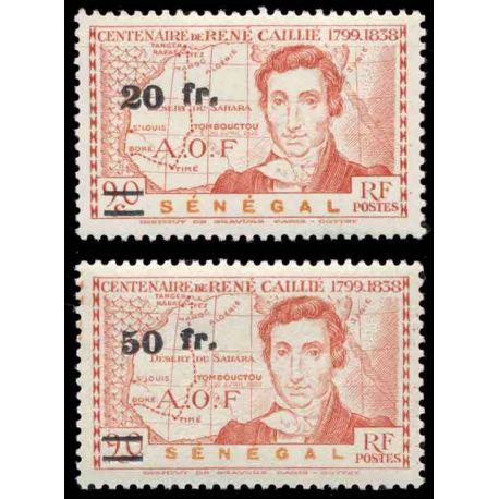 Francobollo collezione Senegal N° Yvert e Tellier 196/197 nove senza cerniera