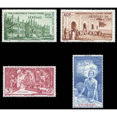 Francobollo collezione Senegal N° Yvert e Tellier PA 18/21 nove senza cerniera