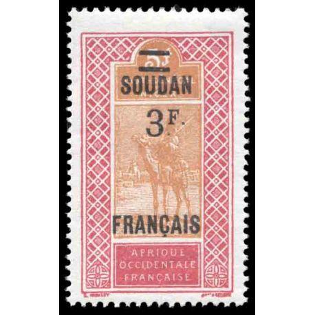 Timbre collection Soudan N° Yvert et Tellier 50 Neuf sans charnière