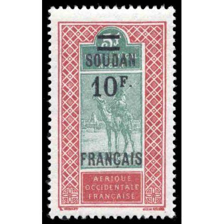 Timbre collection Soudan N° Yvert et Tellier 51 Neuf sans charnière