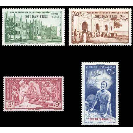 Timbre collection Soudan N° Yvert et Tellier PA 6/9 Neuf sans charnière