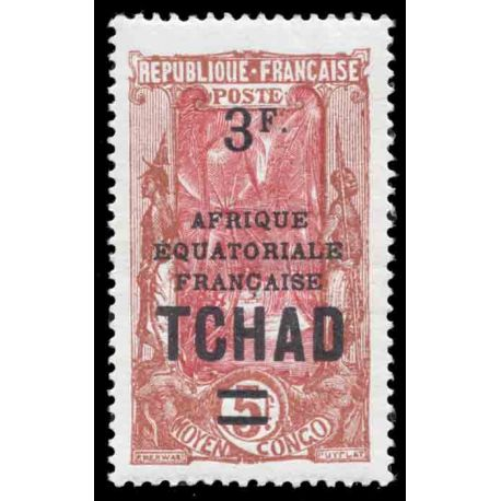 Timbre collection Tchad N° Yvert et Tellier 50 Neuf sans charnière