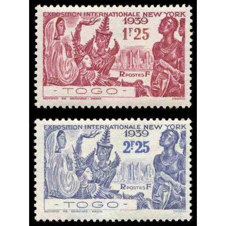 Francobollo collezione Togo N° Yvert e Tellier 175/176 nove senza cerniera