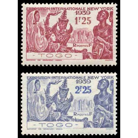 Timbre collection Togo N° Yvert et Tellier 175/176 Neuf sans charnière