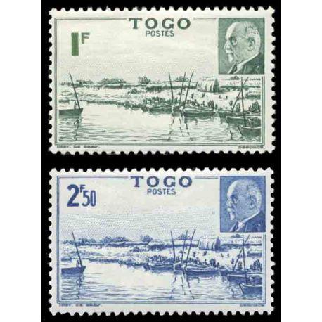 Briefmarke Sammlung Togo N° Yvert und Tellier 215/216 neun ohne Scharnier