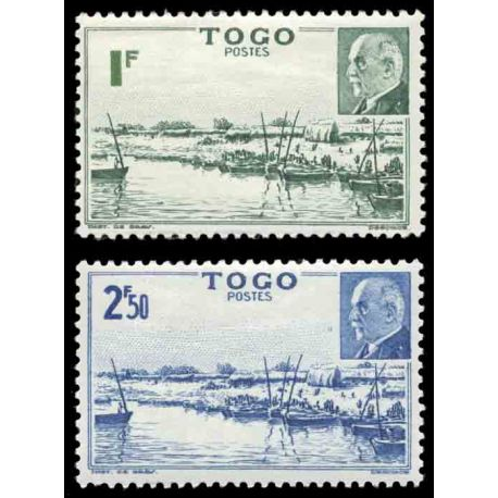 Timbre collection Togo N° Yvert et Tellier 215/216 Neuf sans charnière