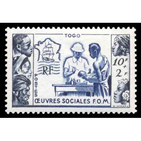 Briefmarke Sammlung Togo N° Yvert und Tellier 254 neun ohne Scharnier