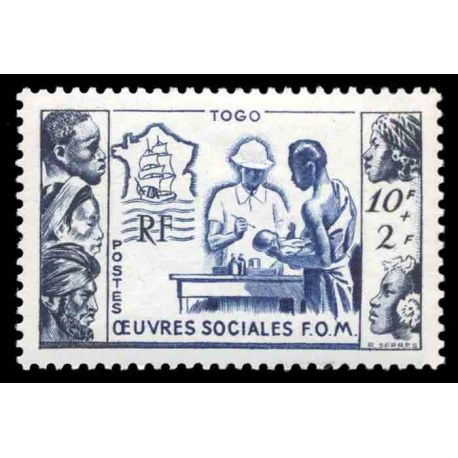 Timbre collection Togo N° Yvert et Tellier 254 Neuf sans charnière