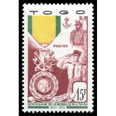 Briefmarke Sammlung Togo N° Yvert und Tellier 255 neun ohne Scharnier