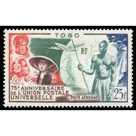 Francobollo collezione Togo N° Yvert e Tellier PA 21 nove senza cerniera