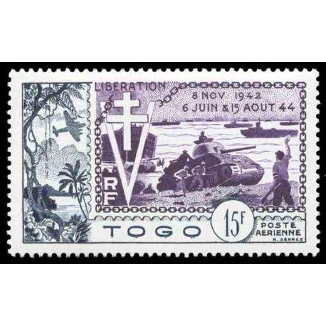 Francobollo collezione Togo N° Yvert e Tellier PA 22 nove senza cerniera