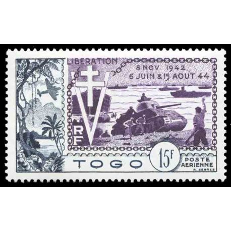Timbre collection Togo N° Yvert et Tellier PA 22 Neuf sans charnière