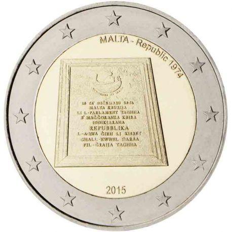 Malte - 2 Euro commémorative 2015 République 1974