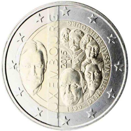 Lussemburgo - 2 euro commemorativa 2015 dinastia Nassau-Weilbourg