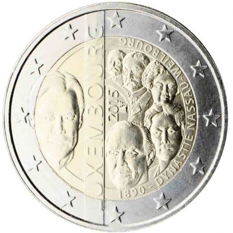 Luxemburg - 2 Euro Gedächtnis- 2015 Dynastie Nassau-Weilbourg